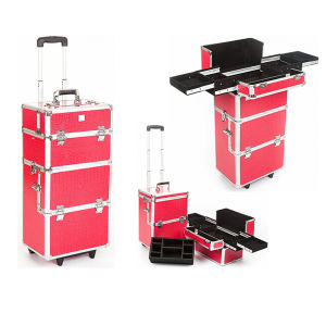 Beauty Cosmetic Trolley Case Makeup Train Case (HX-A0723) pictures & photos