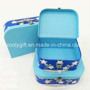 Star Printing Portable Paper Suitcase Storage Boxes Set of 3 pictures & photos