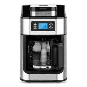 1 25l Coffee Maker With Grinder Automatic Drip Machine Grinding Beans