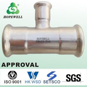 Stainless Steel 304 316 Tees High Pressure Hose Fitting Pipe pictures & photos