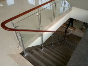 China Handrail Stair Project Variety Fixing Frameless Glass