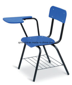 Plastic School Student Classroom Tablet Chair with Basket (7108)