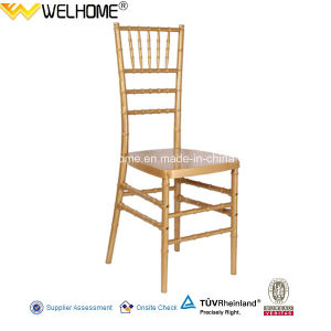 Gold Color Polycarbonate Resin Chiavari Chair for Wedding pictures & photos