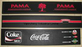 Customs PVC Rubber Bar Mat for Promotion Gift