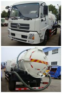 Vacuum Suction Sewage Truck with 4000L Capacity pictures & photos