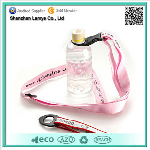 Promotional Cheap Custom Printed Lanyard with Bottle Holder