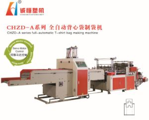 Full-Automatic Double-Line Hot-Sealing & Hot-Cutting Vest Bag Making Machine (Factory Price) pictures & photos