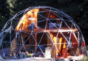 Good Quality Steel Structure Dome House with PC/Film Cover