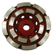 Double Row Segmented Diamond Cup Grinding Wheel for Granite Marble pictures & photos