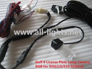 Car Golf 6 License Plate Lamp Holder Camera Backup Camera Rearview Camera RGB Camera