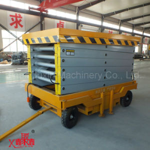 10m Lifting Height Hydraulic Scissor Lift 220V AC Power pictures & photos