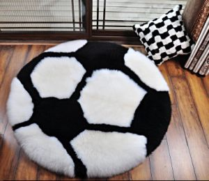 Genuine Sheepskin Round Tatami Area Carpet pictures & photos
