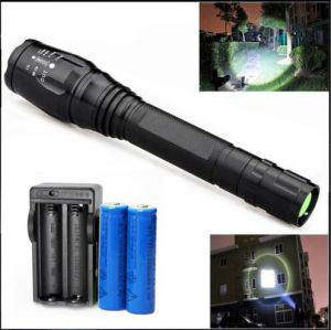 Zoomable 4000 Lumen 5 Modes CREE Xml T6 LED Torch Lamp Flashlight 18650&Charger