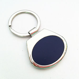 Promotion Zinc Alloy Key Ring with Stainess Steel Plate (F1184)