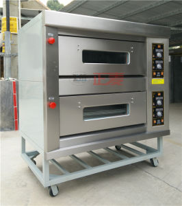 2 Doors and 4 Trays Gas Stainless Steel Door Deck Oven (ZBB-204M) pictures & photos