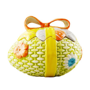 Easter Egg Shape Ceramic Cookie Jar for Home Decoration pictures & photos