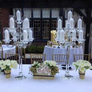 Whole Luxury Hanging Crystals Wedding Centerpieces For Flowers And Candleholder