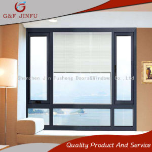 Thermal Break Powder Coated Aluminum Awning Window with Louvers
