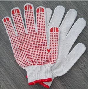 Best Safety Household and Gardening Work Protective PVC Dotted Gloves  Manufacturers