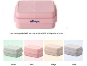 40a0a8c43 Hot Eco Friendly Custom Leakproof Food Biodegradable BPA Free Lunchbox  Children School Bamboo Fiber Tiffin Bento