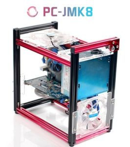 Qdiy Pc Jmk8 New Product Atx Aluminum Building Blocks Of Diy Vertical Water Cooled Games Computer Chassis Or Cases
