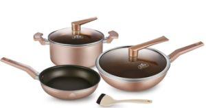 Three-Piece Aluminium Non-Stick Wok Stockpot Frying Pan for Cookware