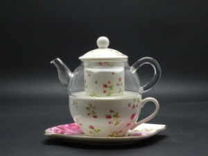400ml Heat Resistant Tea Pot Whole Chinese Teaset Gl Teapot Set High Quality Convenient
