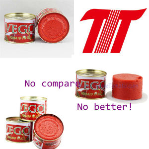 Vego Brand Tomato Paste 70g 28-30% Tomato Paste pictures & photos