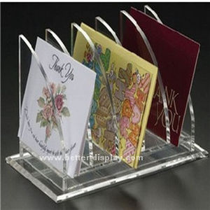 Acrylic Clear CD DVD Holder Rack Display Stand Btr-C2008 pictures & photos