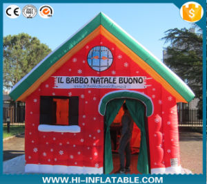 Outdoor Christmas Decoration Inflatable Santa House for Sale