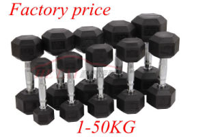 Fitness Training Equipment Rubber Coated Dumbbell Set Price