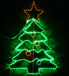 Green Beautiful Christmas Tree for LED Motif Rope Light (BW-MFG-017) pictures & photos