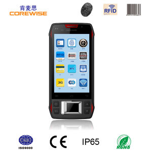 Handheld Industrial PDA with Fingerprint Reader RFID and Barcode Scanner