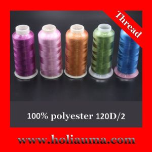 100% Polyester 120d/2 Embroidery Thread pictures & photos