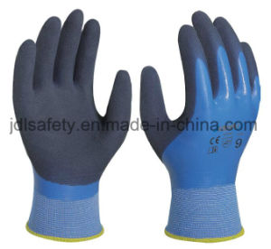 Latex Safety Work Glove with Sandy Latex Coated (LRS3033) pictures & photos
