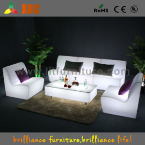 China Party Furniture Outdoor Patio Light Up Sofa Led Plastic Garden