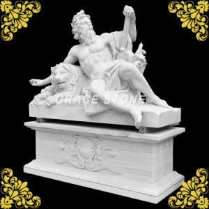 Natural Marble Statue with Big Base pictures & photos