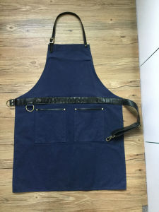 Custom Heavy Duty Waxed Canvas Leather Work Apron for Men