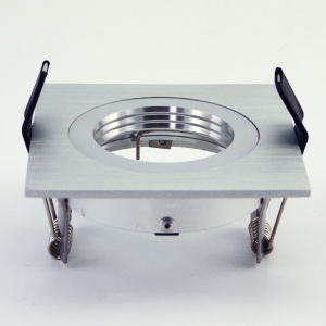 Lathe Aluminum GU10 MR16 Square Recessed Fixed LED Ceiling Light (LT2111A) pictures & photos
