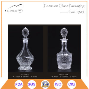 Engraved Glass Brandy Decanters Bottle/Liqueurs Bottles pictures & photos