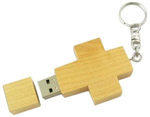 Cross Design USB Flash Drive, Creative and Eco-Friendly Material, Full Capacity pictures & photos