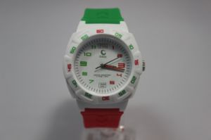Plastic Three Colors Simple Green Product Quartz Movement Watch pictures & photos