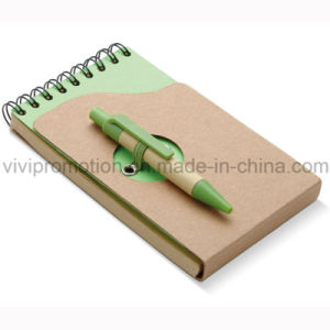 Popular Mini Pocket Spiral Notebook with Recycled Paper Pen (PNB082A) pictures & photos