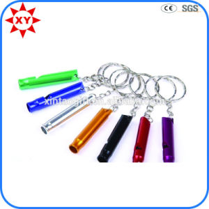 High Quality Custom Shiny Colorful Whistles Keychains pictures & photos