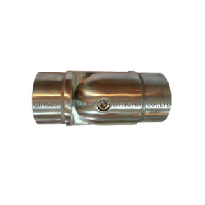 Adjustable Tube Connector with Joint Stainless Steel Stair Railing Fitting