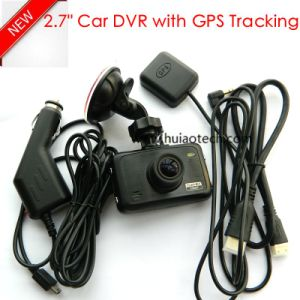 New 2.7inch Car Dash Cam with GPS Tracking Route Car Dash Camera by Google Map Playback, GPS Logger Car Digital Video Recorder DVR-2709 pictures & photos