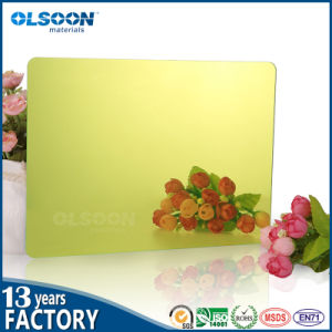 Olsoon 0.8-6mm High Clear Light Gold Mirror Wall Decorative Mirror pictures & photos