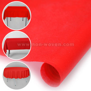 Biodegradable 100% Polypropylene Tablecloth 5# Red pictures & photos
