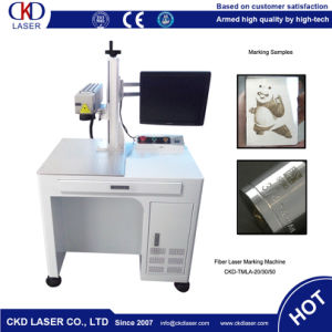 Low Energy Consumption Fiber Laser Marking Machine for Hardware pictures & photos
