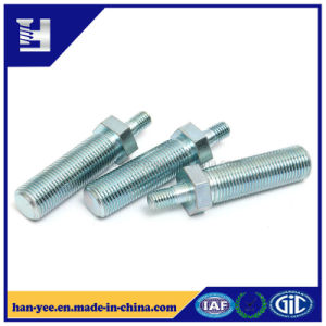 Two Heads Thread Rods Zinc Plated Bolt pictures & photos